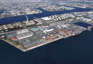 整備が進む川崎港