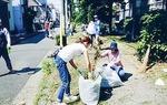 小倉緑道の草刈りと清掃(南加瀬夢見ヶ崎町内会)