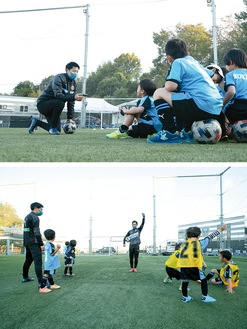 同クラブスクール・普及コーチが熱心に指導©川崎フロンターレ
