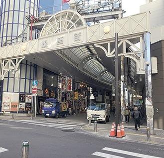 催しが開かれる川崎銀座街