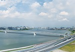 建設中の「多摩川スカイブリッジ」