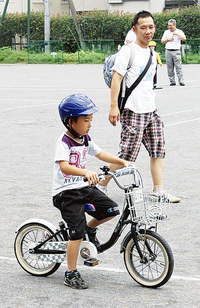 親子で自転車マナー学ぶ