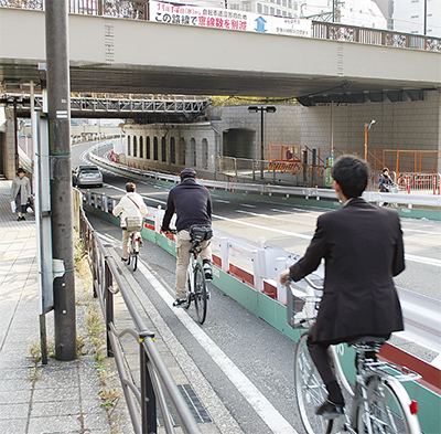自転車一方通行 概ね好評
