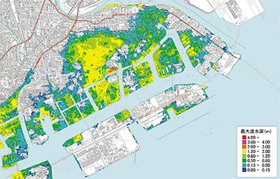 川崎区の45%が浸水