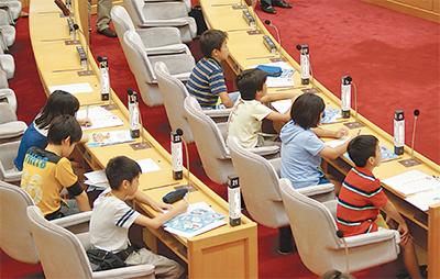 市議会のしくみを学習