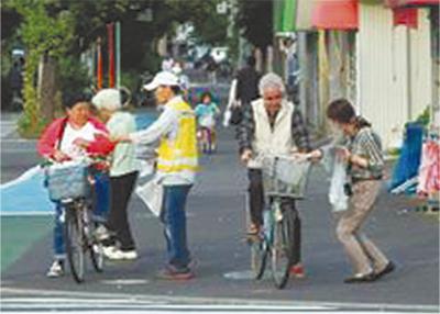 「安全な自転車走行を」