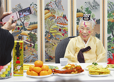 100歳のハルモニ祝福