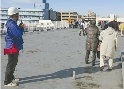 津波に備えて避難訓練