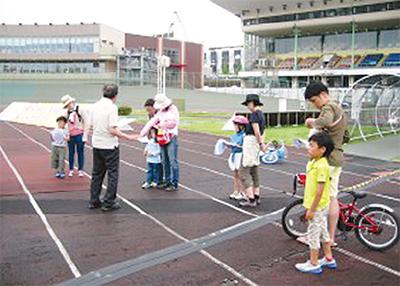 競輪OB指導の自転車教室