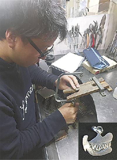 ペンダントの製作に挑戦