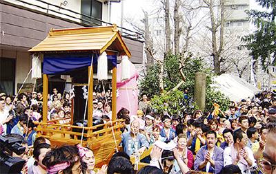 川崎区で春の祭り