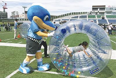 富士通スタに 子ども遊び場