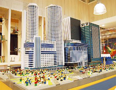 レゴで「未来の名古屋駅」