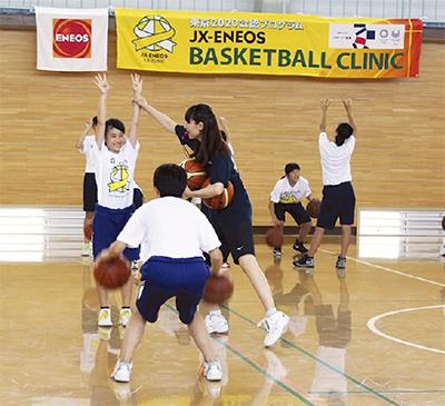 元五輪選手が中学生を指導