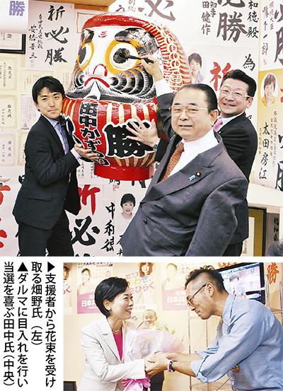 自民・田中氏が8選