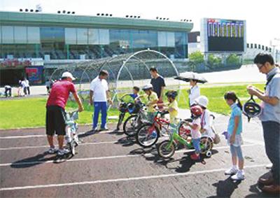 競輪OBが教える自転車教室