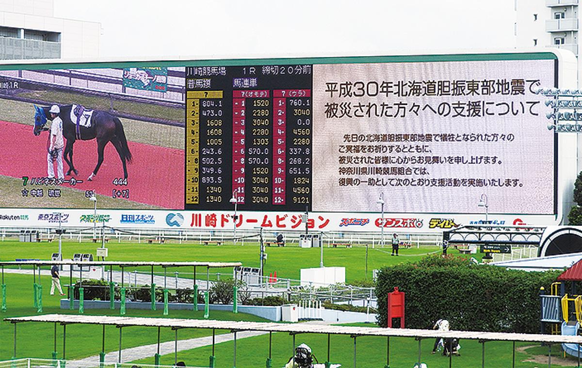 川崎競馬900万円超を寄付