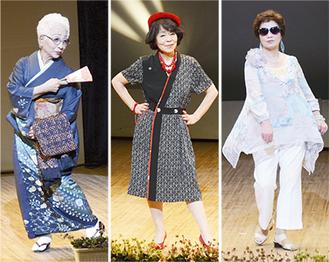 思い思いの衣装をまとった市民モデル