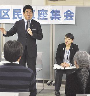 区民の意見に答える福田市長