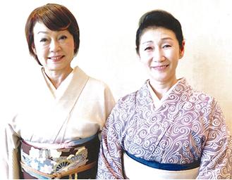 時代考証着付士の川口さん(左)と上森さん