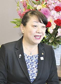 今年の展望を語る上野葉子区長