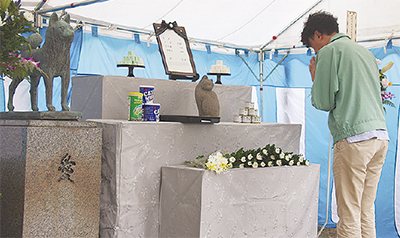 慰霊祭で生き物を供養