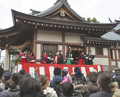 神明神社で節分祭