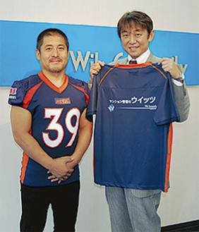 石井光暢ライズ代表と柴田社長(右)