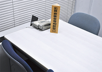 面談が行われる市役所内の相談室