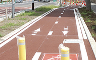 自転車道が一部開通