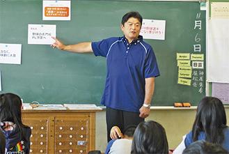 プロ野球選手になるまでのいきさつを語る小早川さん