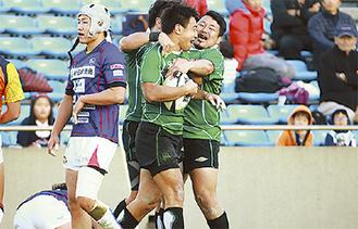 3連覇を決めた最終節の釜石戦
