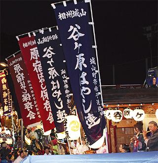 8月の川尻八幡宮例祭では各囃子連の山車が集結。城山一の風物詩として最高の盛り上がりを見せる