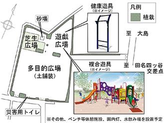 設置される公園の図面(予定)