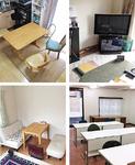 実際に教室に使用されている一般家庭の一室とテナント(右下)