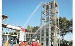 独立防災隊の合同放水訓練