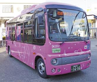 大野北地区を走るコミュニティバス
