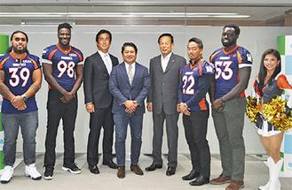 ライズ選手らと加山市長