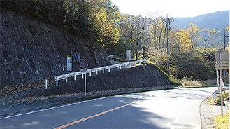 最終候補地案「青山」の既存進入路入口(串川方面より24日撮影)
