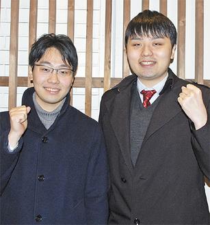 共に全国の舞台に挑む菅野さん(左)と浅倉さん