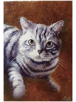 知人の飼い猫を描いた作品