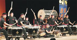 第9回日本一決定戦で優勝した日本航空高等学校(山梨県)の太鼓隊