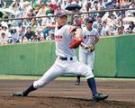 最後の一戦・横浜戦で白球を投げ込む宮崎投手