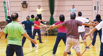長野信一氏による7月に行われた体操講習会