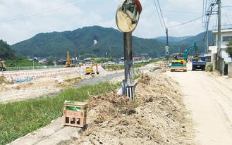 西日本豪雨により被害を受けた竹原市内。中央は賀茂川=提供写真