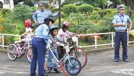 自転車マナーを指導