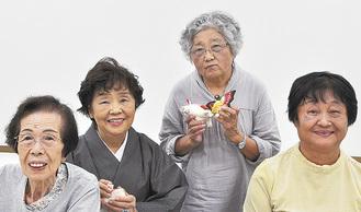 右から山本さん、金子さん、講師の萩生田武子さん、市川さん