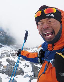 昨年11月、乗鞍岳に登山中の田中さん