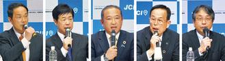 左からパネリストとして出席した宮崎氏、八木氏、本村氏、加山氏、野元氏(当日座席順)