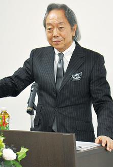 当日登壇する元外交官の松本氏(昨年11月時のセミナー)